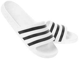 ADILETTE AQUA (흰검) 아딜렛 아쿠아 F35539